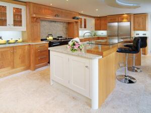 Beautiful bespoke Oak and hand painted kitchen