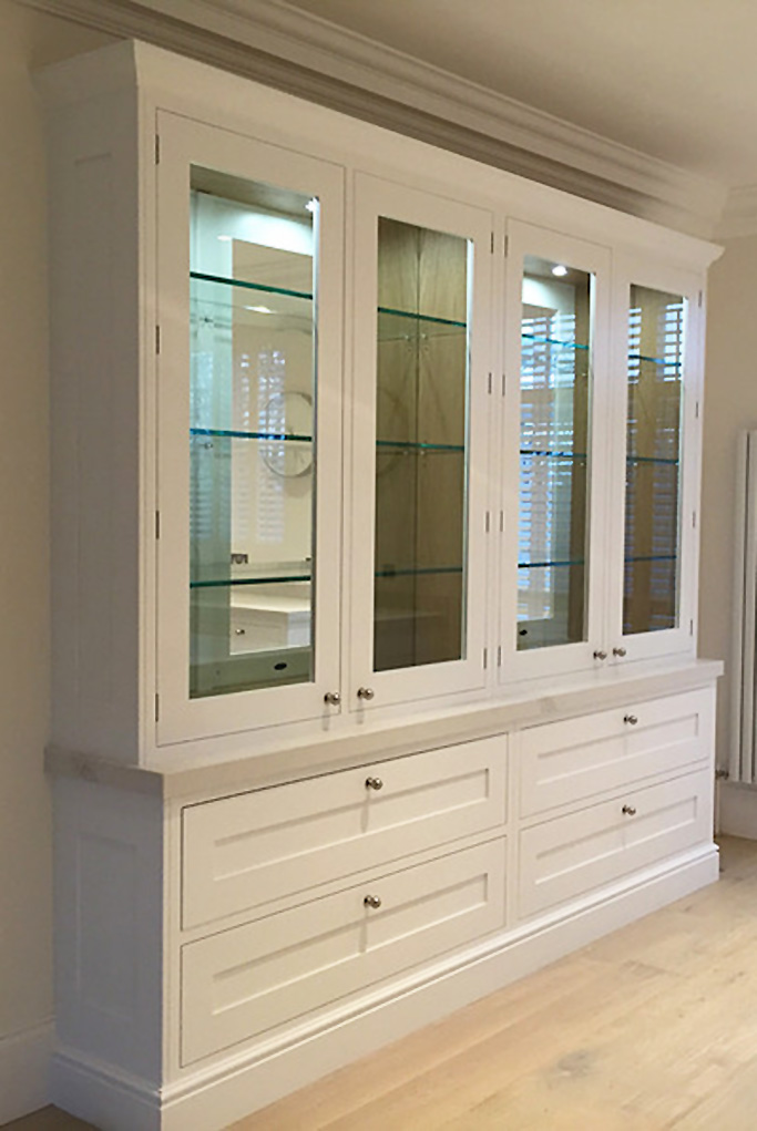 The Classic Braelea Shaker tall free standing Kitchen dresser