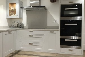 The Real Bamforth Shaker kitchen with black and silver miele appliances