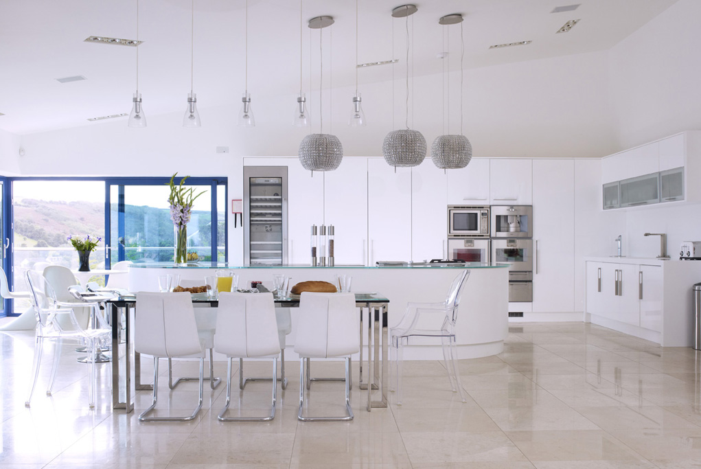 High Gloss Open Plan Kitchen From Concept Interiors