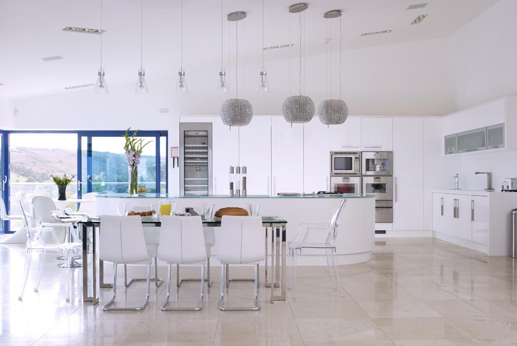 High Gloss Open Plan Kitchen From Concept Interiors Sheffield