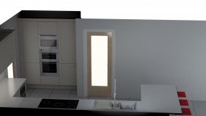 CAD visual of German kitchen in Sheffield.