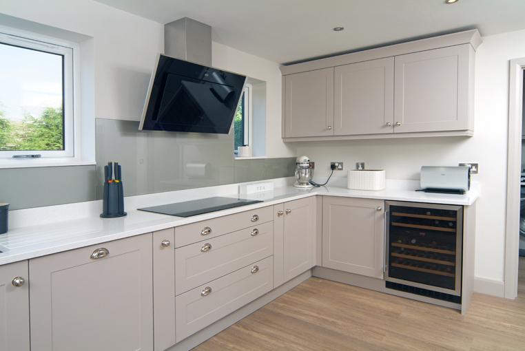 Modern German kitchen in Sheffield, designed in a Shaker style