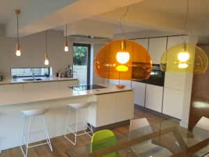 Contemporary kitchen in Sheffield.