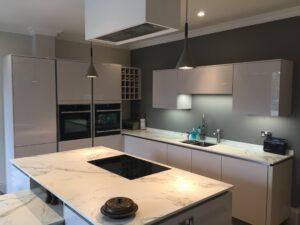German kitchen with Dekton worktops.