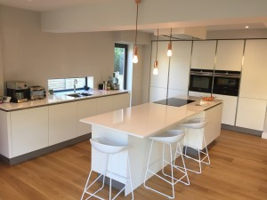 White matt kitchen in Sheffield (1)
