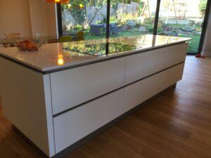 White matt kitchen in Sheffield (2)