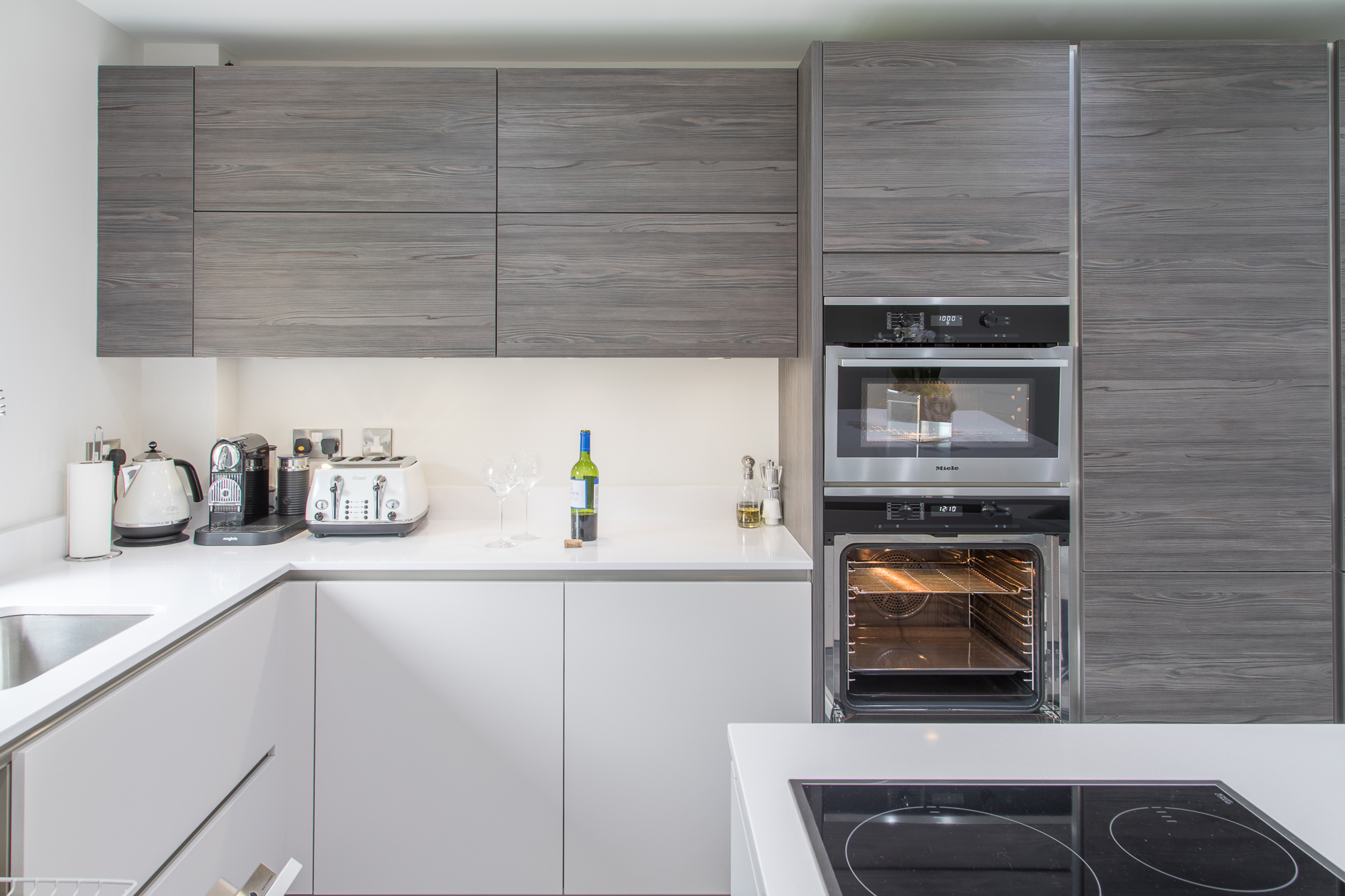 Dark Pine Hacker kitchen Sheffield (1) - Concept Interiors
