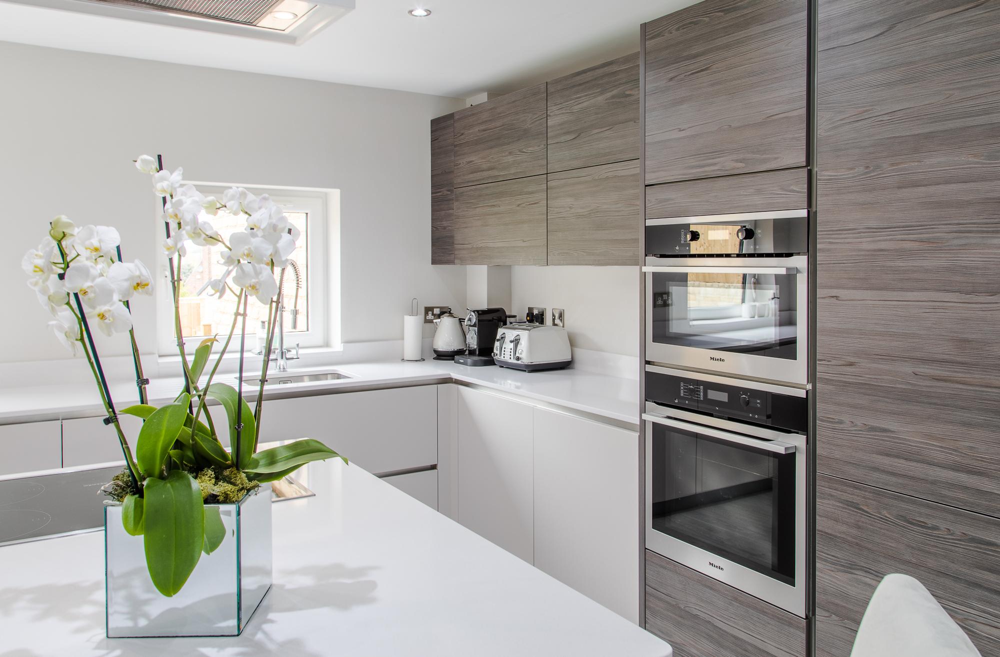 Dark Pine Hacker kitchen Sheffield (2) - Concept Interiors