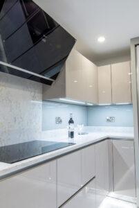 High gloss bespoke hand made kitchen_Sheffield _UK