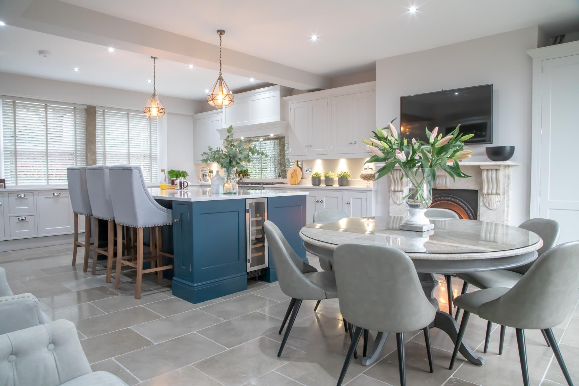 Smart Navy Kitchens For Every Style Made In Sheffield